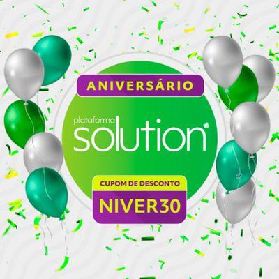 Agosto é o mês de aniversário da Plataforma Solution, mas quem ganha o presente é você!